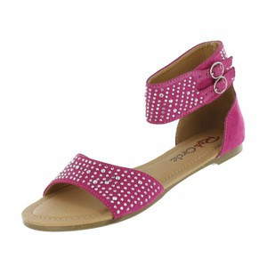 Red Circle Footwear Fuchsia Sandals