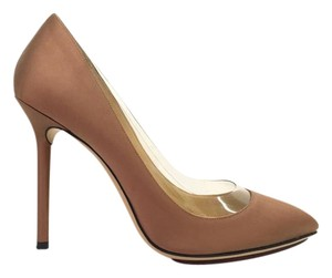 Charlotte Olympia Satin tan Pumps