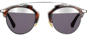 Dior Dior So REal Split Lens Mirrored Sunglasses, 48 mm Havana/Grey