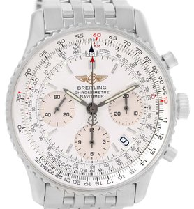 Breitling Breitling Navitimer Chronograph Silver Dial Steel Watch A23322