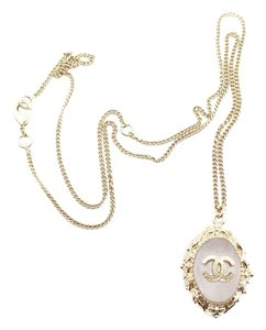 Chanel Chanel Glass CC Pendant Necklace