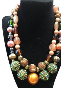 Anna's Art Beautiful and Huge Beads, Gem Necklace