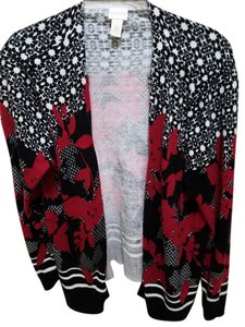 Chico's Floral Red Sweater