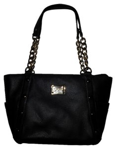 Michael Kors Studed Leather Tote in Black