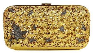 Judith Leiber Minaudiere Metal Evening Metal Evening Gold Clutch