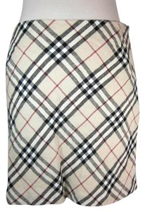 Burberry Beige Nova Check Linen Skirt