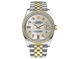 Rolex Rolex Men's Two-Tone DateJust Diamond Watch