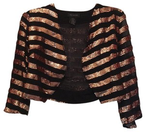 MM Couture Top Black with rose gold sequins