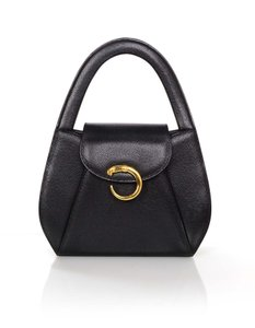 Cartier Hand Leather Evening Top Handle Tote in Black