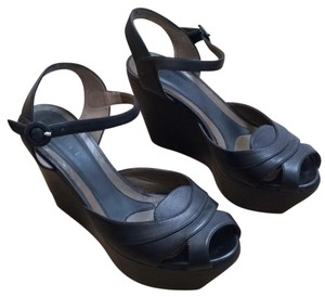 Marni Black Wedges