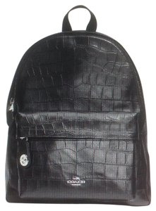 Coach Crocodile Leather Large Backpack