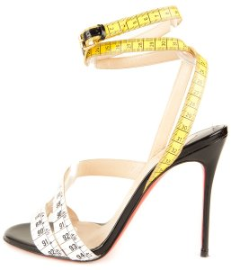 Christian Louboutin White & Yellow Sandals