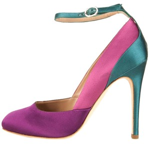 Alberta Ferretti Purple & Teal Pumps
