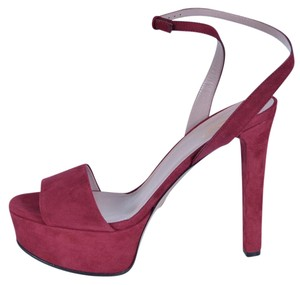 Gucci Sandals Heels Burgundy Platforms