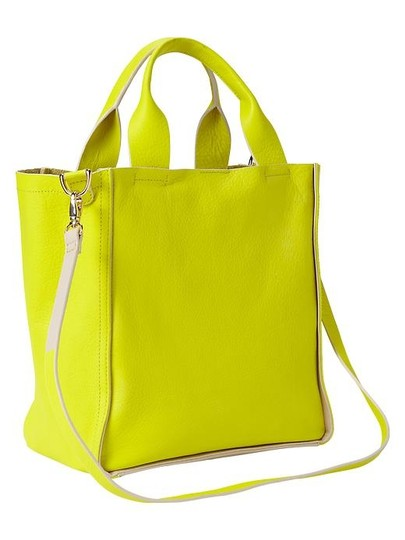 Gap Leather Pouch Neon Set Tote in Yellow