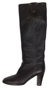Chloé Chloe Round-toe Knee-high Leather Brown Boots