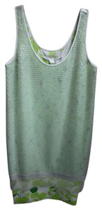 Diane von Furstenberg short dress Green Sequin Floral on Tradesy