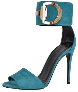Gucci Heels Light Turquoise Sandals