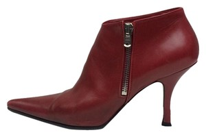 Michel Perry Pointed Toe Leather Red Boots