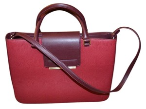 Calvin Klein Outlet Satchel in Red and Brown