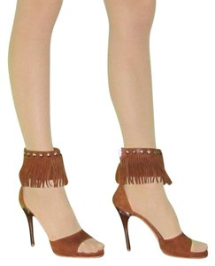 Gianvito Rossi Suede Fringe sz 40 brown Pumps