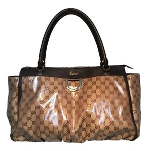 Gucci Monogram Tote in brown