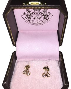 Juicy Couture Juicy Couture Cherry Crystal Earrings Pink