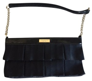Kate Spade Ruffle Evening Black Clutch
