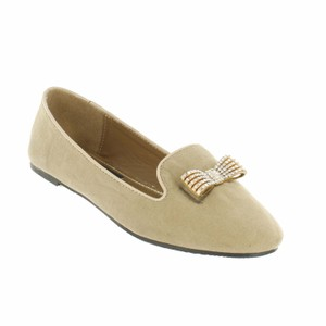 Red Circle Footwear Nude Flats
