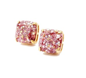 Kate Spade NEW Kate Spade New York Rose Gold Glitter Studs Earrings