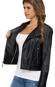 Vince Camuto Perforated Faux Leather Leather Jacket