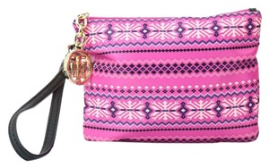 Tommy Hilfiger Nylon Novelty Wristlet in Pink