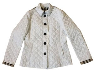 Burberry Brit Ashurst Quilted White Jacket