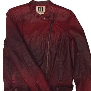 KUT from the Kloth Burgundy Leather Jacket