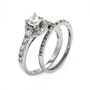 Wedding set in 925 with Cubic Zirconia