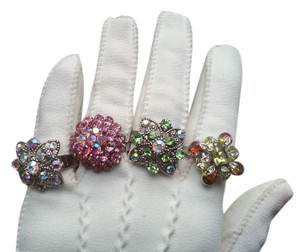 Fashion Rhinestone Cocktail Rings (4) Fashion Rhinestone Cocktail Rings (4)