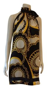 Zara short dress Black Yellow Platinum on Tradesy