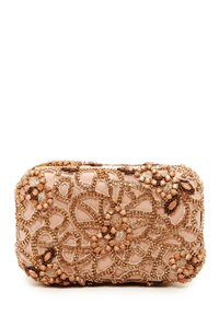 Alice + Olivia Blush / rose gold Clutch