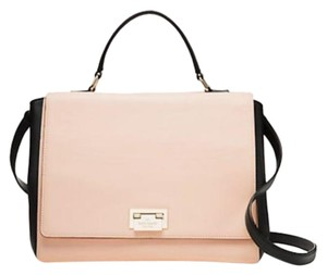 Kate Spade Magnolia Lg. Laurel Leather Satchel in Rosetta and Black