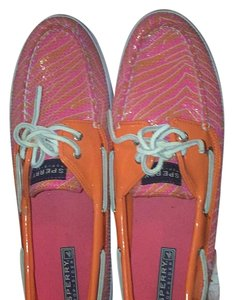 Sperry Orange and Pink Flats