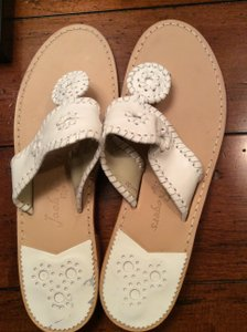 Jack Rogers Palm Beach Palm Beach Leather White Sandals