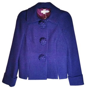 Boden Snap Closure Fully Lined purple Blazer