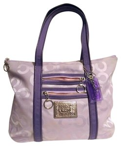 Coach Signature Poppy Tote in Purple