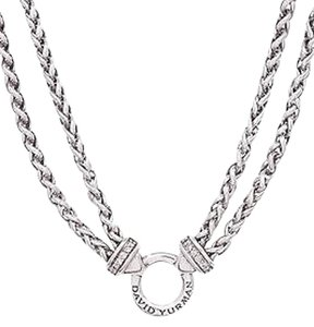 David yurman initial necklaces up to 70 off at tradesy david yurman david yurman sterling silver diamond double wheat chain necklace aloadofball Choice Image
