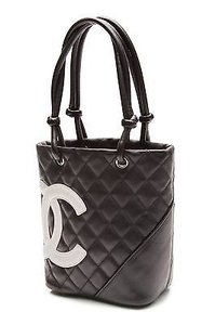 Chanel Quilted Cambon Tote in Black