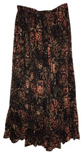 Free People Maxi Skirt Black Floral