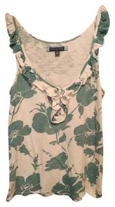 American Eagle Outfitters Top White and green floral
