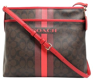 Coach Signature Lightweight Monogram Skinny Striped Cross Body Bag