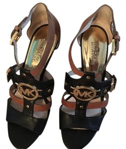 Michael Kors DARK WALNUT/BLACK Sandals