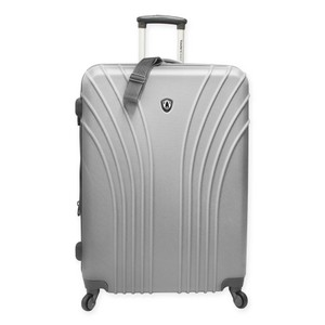 Traveler's Choice Luggage Expandable Durable Silver Travel Bag